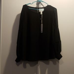 Nwt Girl with curves X lane bryant black shirt